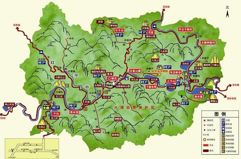 翠枫山自然风景区地图