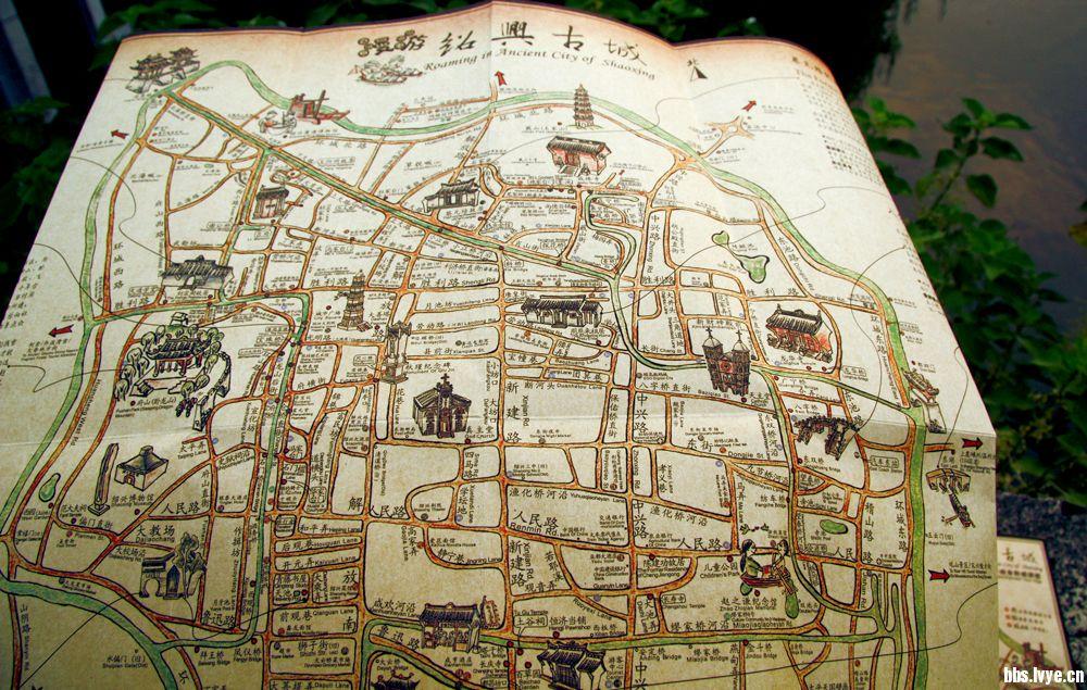 记忆的涟漪,《漫游绍兴古城》手绘地图带我漫游绍兴