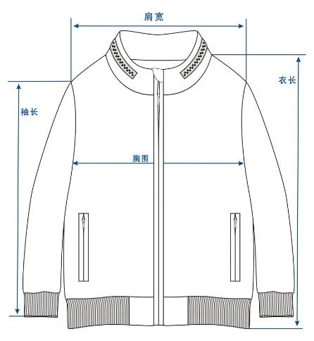 夹克平面图设计
