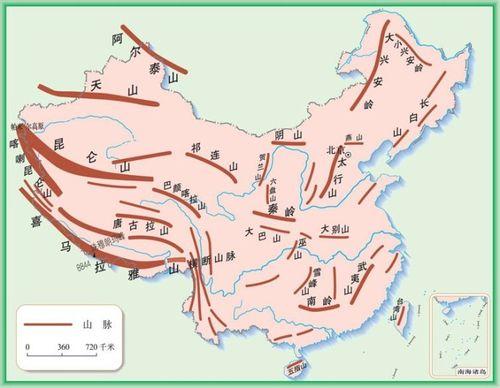 世界地图手绘简图山脉