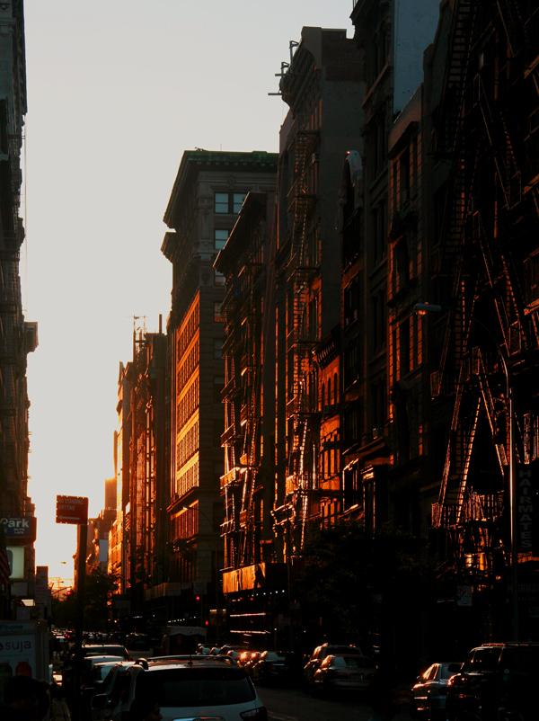 落日黄昏的联合广场街道