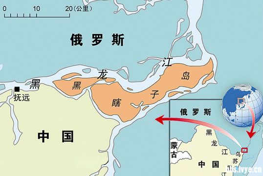 中国版图最东端的黑瞎子岛