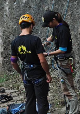 跟着乐行玩户外,成都鹤鸣山登山攀岩体验