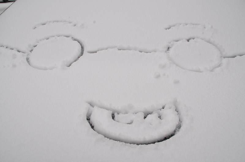 幼儿园大班简笔画下雪了