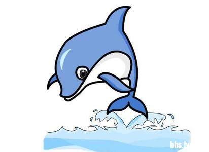 海豚简笔画:hello kitty和小海豚