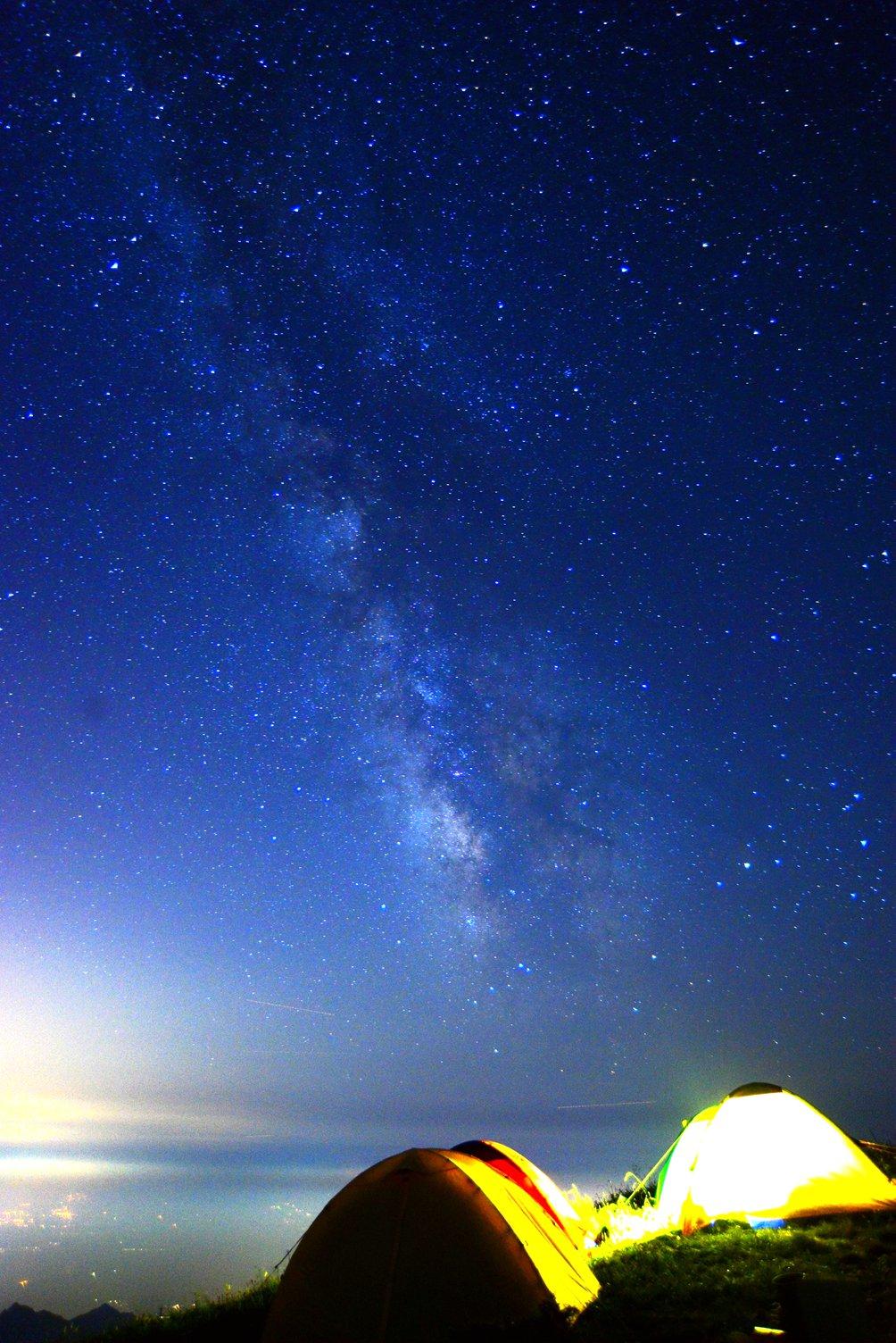 守望星空,美丽的海坨,我们来了!图片