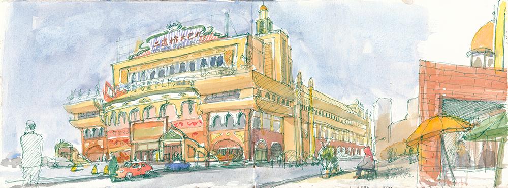 五月新疆观鸟手绘笔记