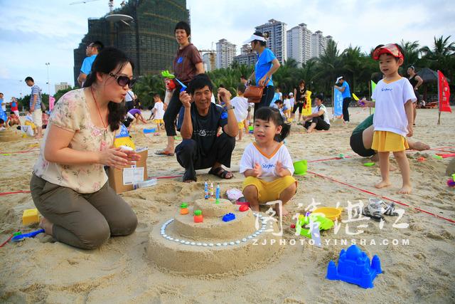 绿野连云港亲子户外2014简易沙雕比赛及亲子赏月活动