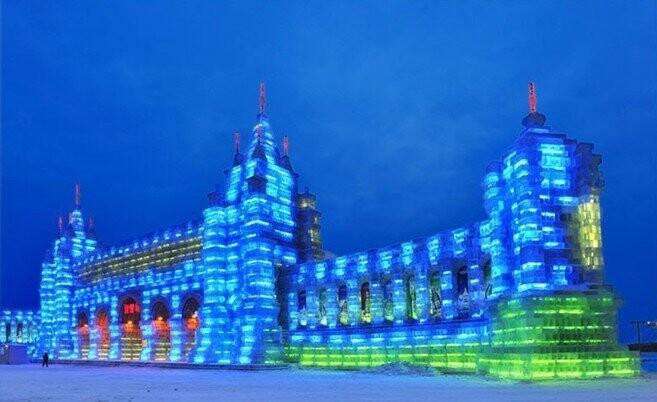 【魔族户外】哈尔滨索菲亚教堂,冰雕冰雪大世界-雪谷徒步,吉林雾凇岛