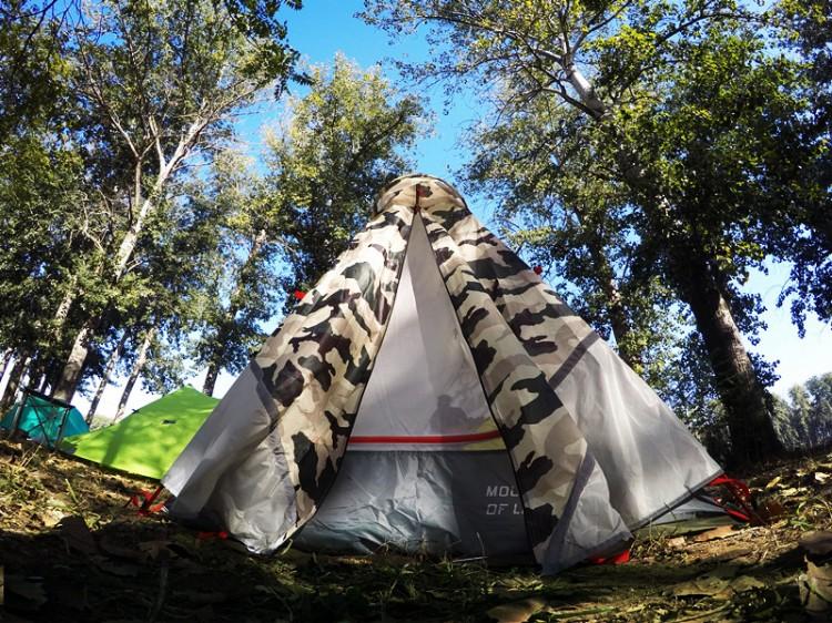 戶外第一款全骨架超級反光設計-翌山印光型帳篷