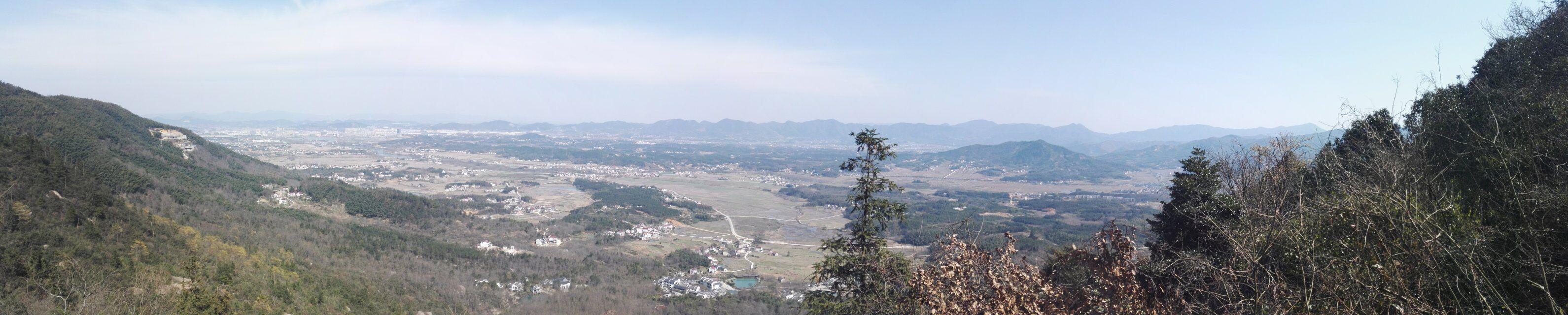 九子岩广角看青阳-九华山-安徽-绿野户外网
