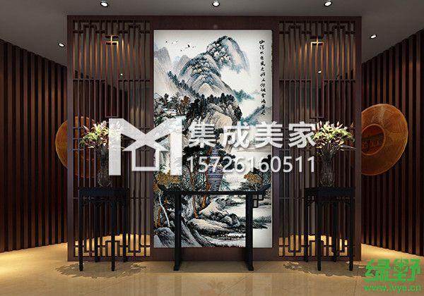 三,中式古典室内装修离不开木纹集成美家捷构板:   大红的中国结是