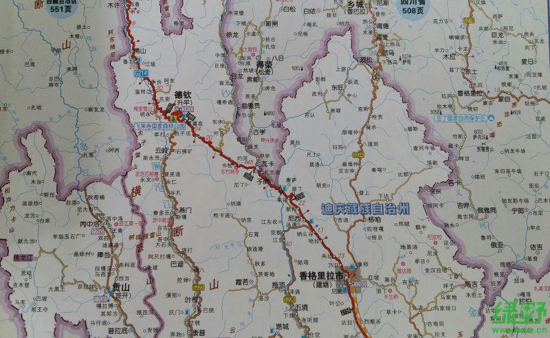 新疆101省道手绘地图