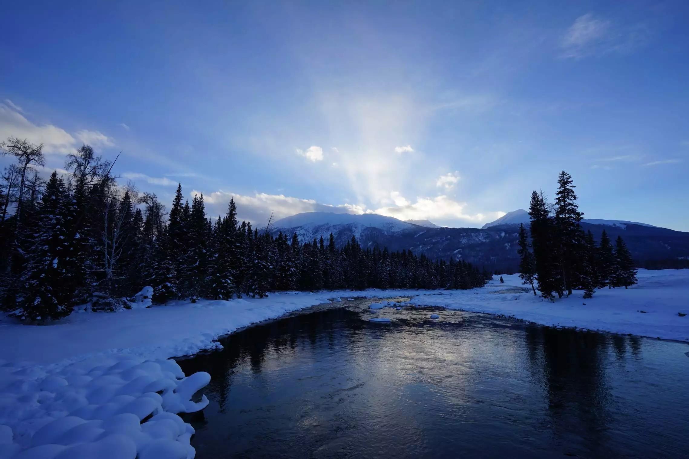 微信冬季风景头像