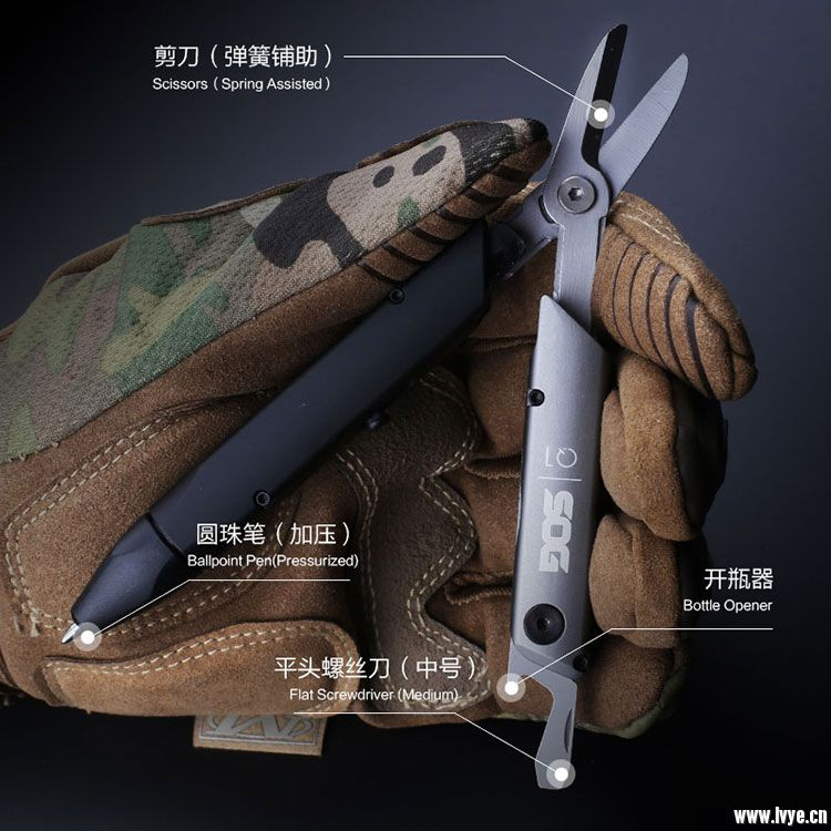 Sog 哨格 Q1多功能防身战术笔