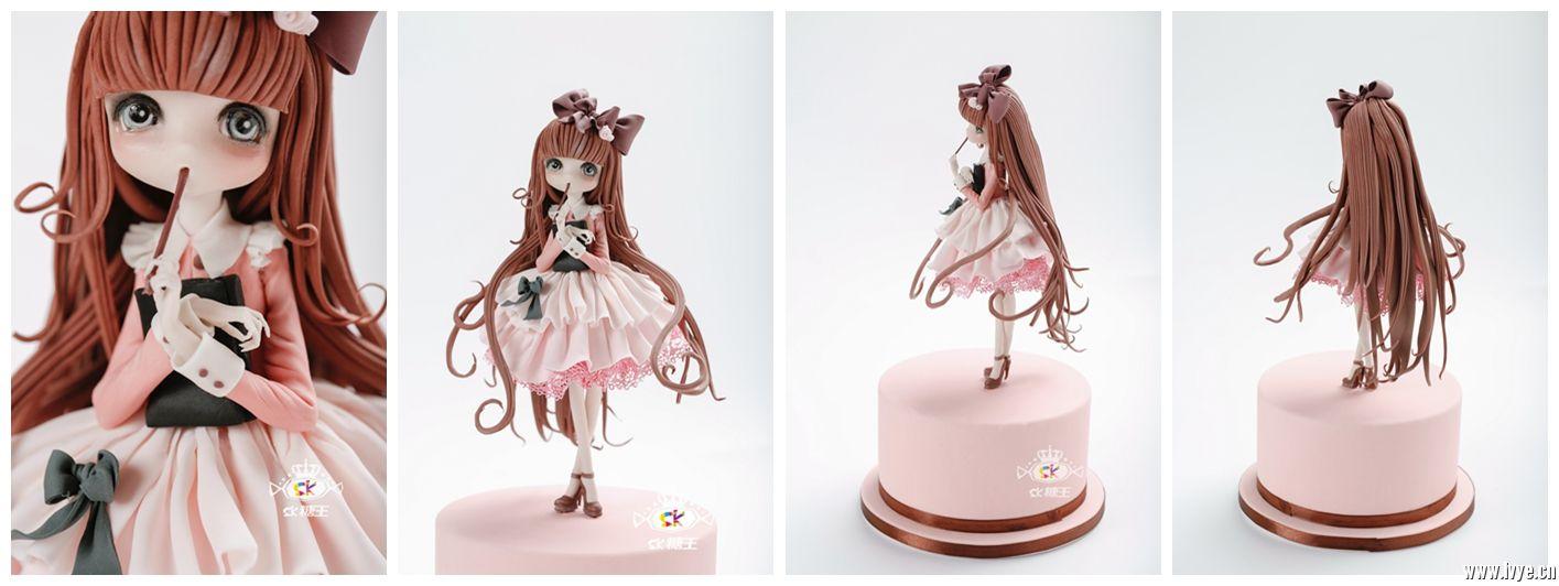 翻糖蛋糕,翻糖人偶