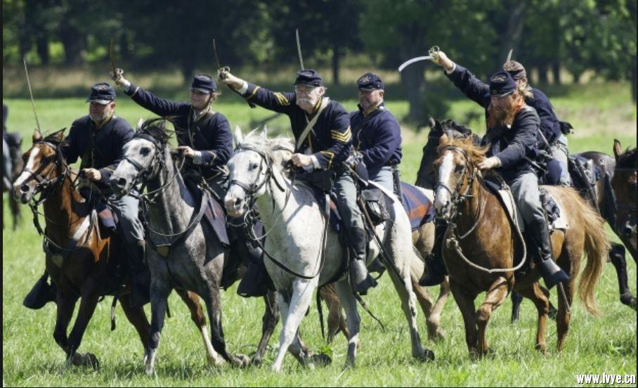重演-美内戰 北軍騎兵.JPG