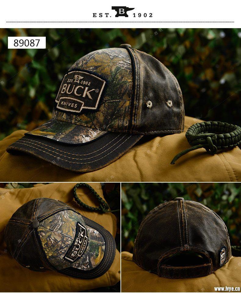 美国巴克 鸭舌帽 丛林户外迷彩帽