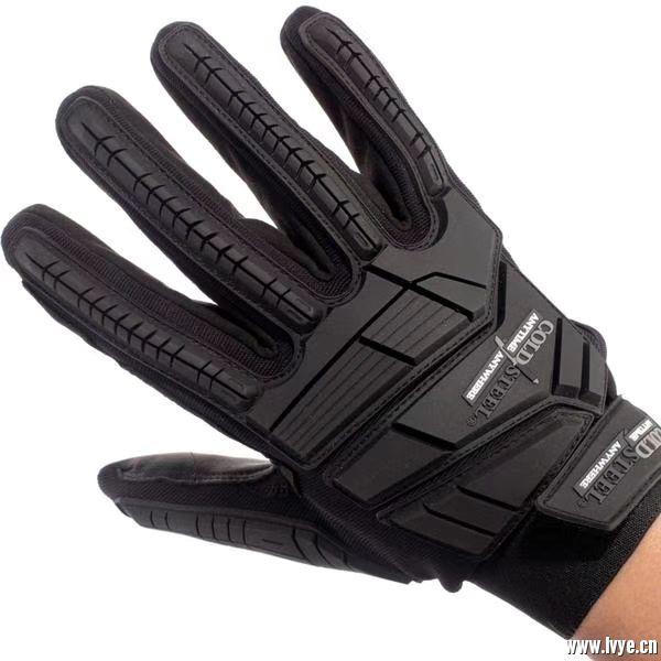 美国冷钢 全指战术手套 黑色