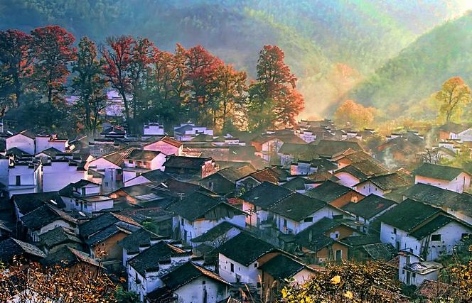【钢七连】11.28-12.1婺源篁村石城长溪看最美秋景火车团