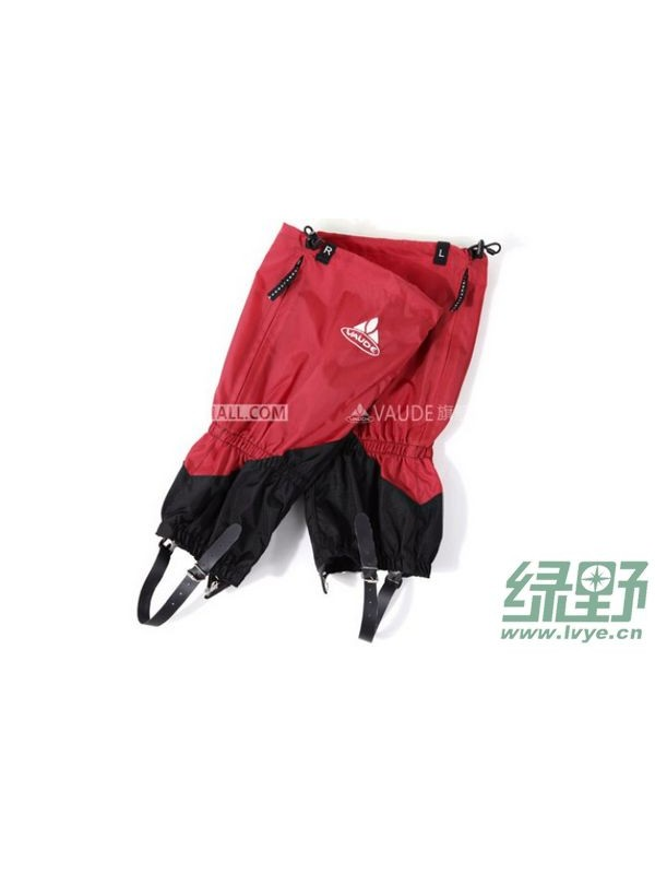 采用三种防脱落、可调节加固装置的VAUDE防寒护具