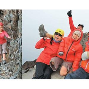 沒手腳女孩也登山:戴6斤重義肢 數度劇痛落淚