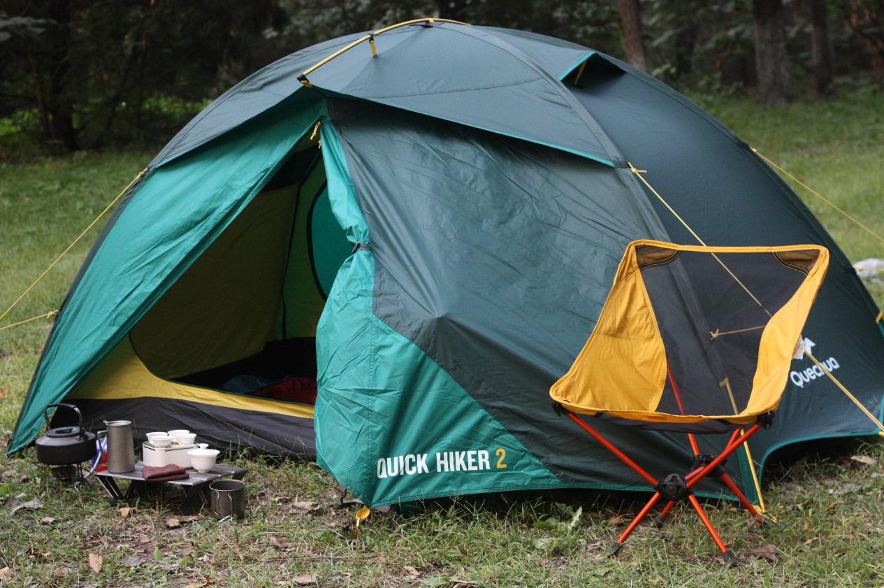 迪卡儂 Quechua(趣岳) QUICKHIKER三合一登山露營雙人帳篷評測