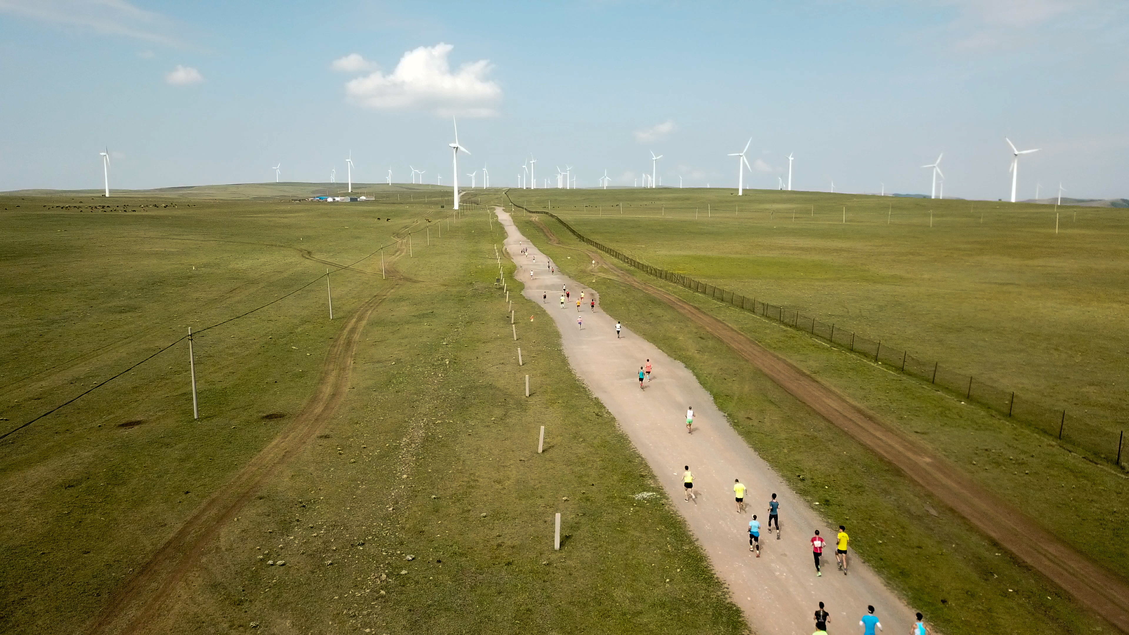 2018年度中国山地马拉松系列赛-辉腾锡勒草原站鸣笛开赛