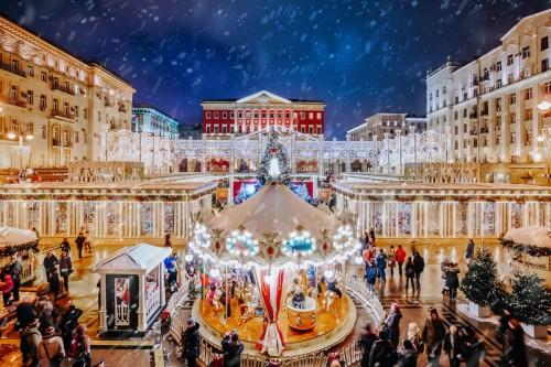"""莫斯科""""儿时的新年""""狂欢节向你发出邀请:2018年3天内参与总人数达270万人 ..."""
