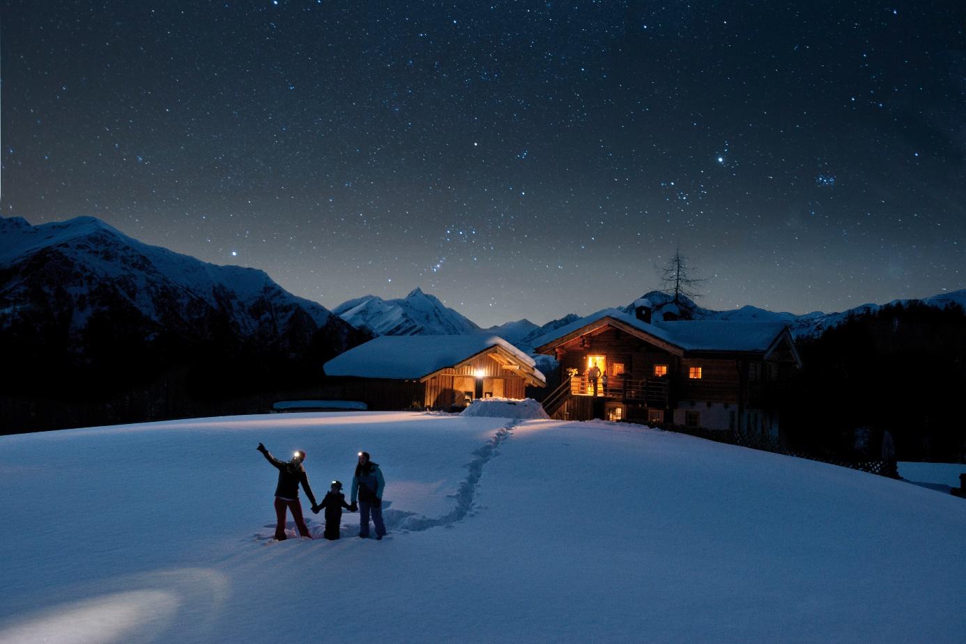奥地利的冬季,浪漫的冒险故事书
