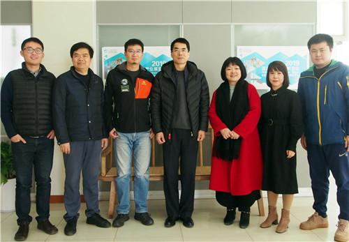 南京市体育局走访宁菲公司,调研指导亚太户外展工作